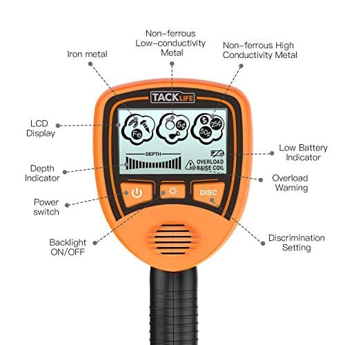 Metal Detector Mainly for Kids with Large Back-lit LCD Display- MMD03
