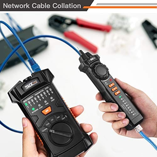 Wire Tracker, Multifunctional RJ11 RJ45 Cable Tester Line Finder With NCV Probe for Ethernet LAN Network Cable Collation - CT03