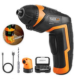 Cordless Rechargeable Screwdriver 3.6V,4-Volt MAX 2000mAh Li-ion Torque 4N.m - LED light, 31pcs Driver Bits - SDP51DC