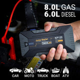 TACKLIFE KP120 1200A Peak Car Jump Starter for up to 8L Gas and 6L Diesel Engines, 12V Car Booster, Portable Power Pack with QC 3.0 and Type-C Port