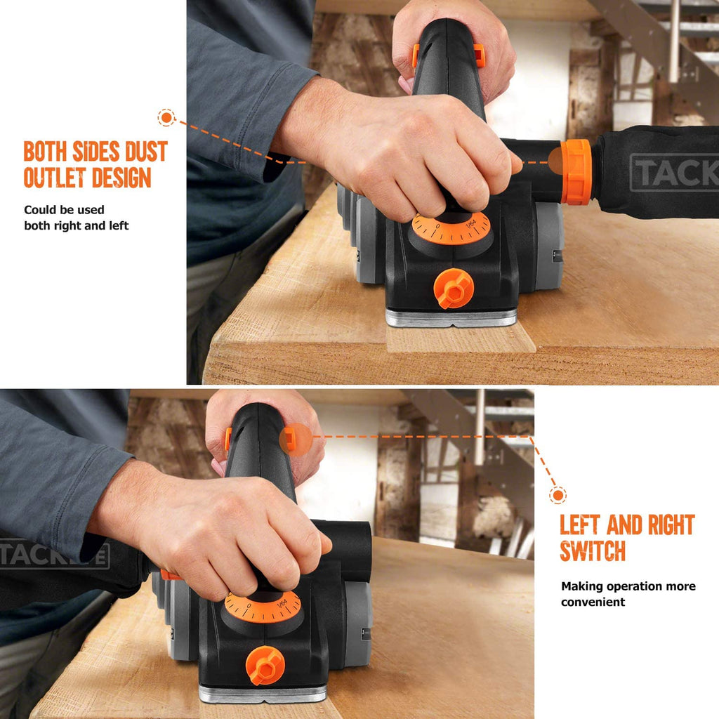 Switch 6-Amp Electric Planer 3-1/4-Inch 16500RPM Electric Hand ...
