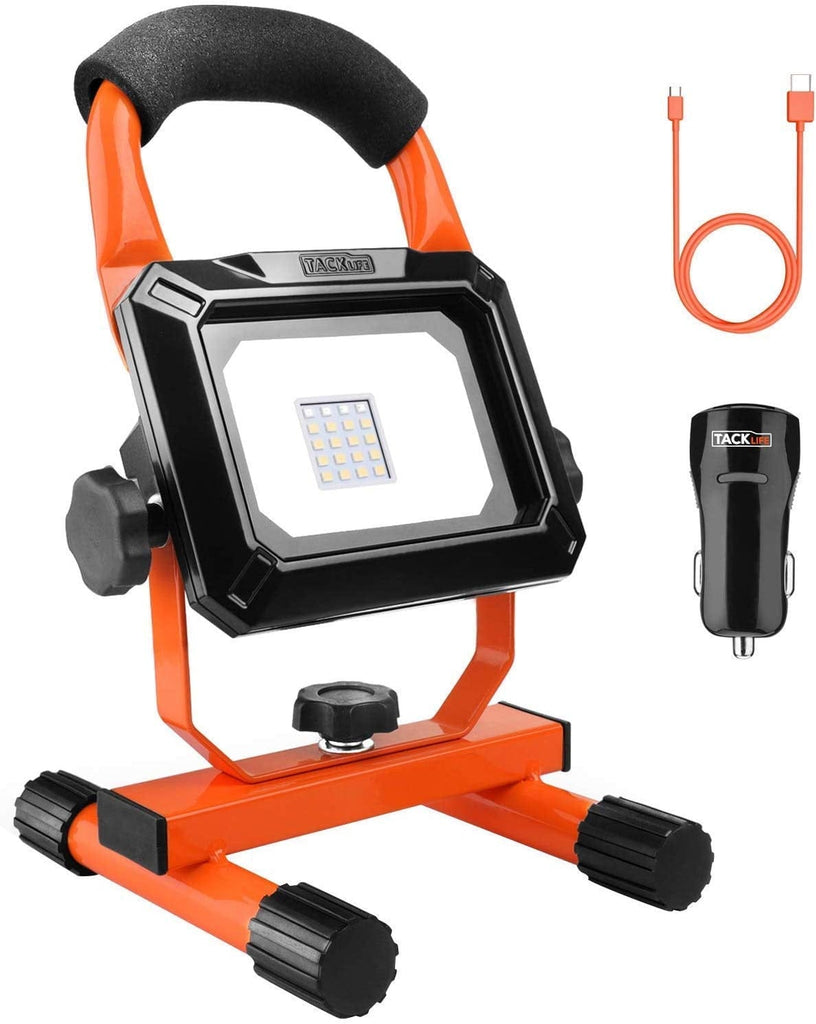 TACKLIFE 5400 Lumen Tripod LED Work Light with Two-Head Total 60W Work Light-LWL4B