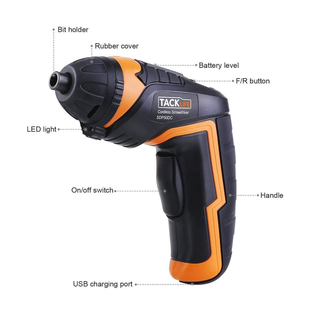 Cordless Screwdriver Electric Rechargeable Screwdriver- SDP50DC