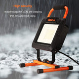 TACKLIFE 70W Portable LED Work Light, 7000LM 2 Brightness Modes, IP65 Waterproof Flood Light with stand for Indoor Work,Construction Site,Job Site, Workshop,5000K Daylight White