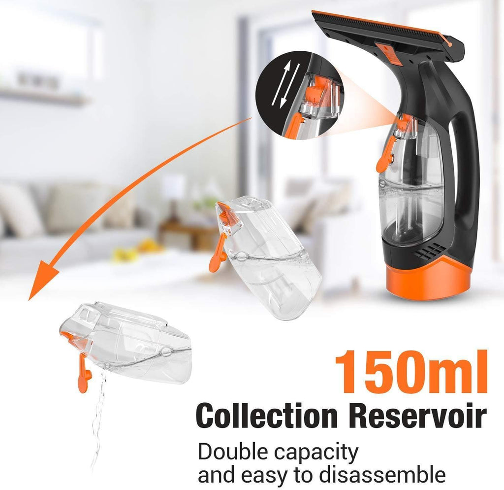 Cordless Window Vacuum Cleaner Set, 280mm Blade- WC1A