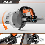 Drain Auger, TACKLIFE 25Ft Drum Auger Drain Snake with Drill Adapter- HGD02A