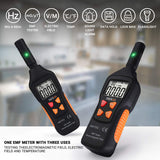 EMF Meter, Electromagnetic Field Radiation Detector 5HZ—3500MHz with 3 Levels Sound-Light Alarm - MET01