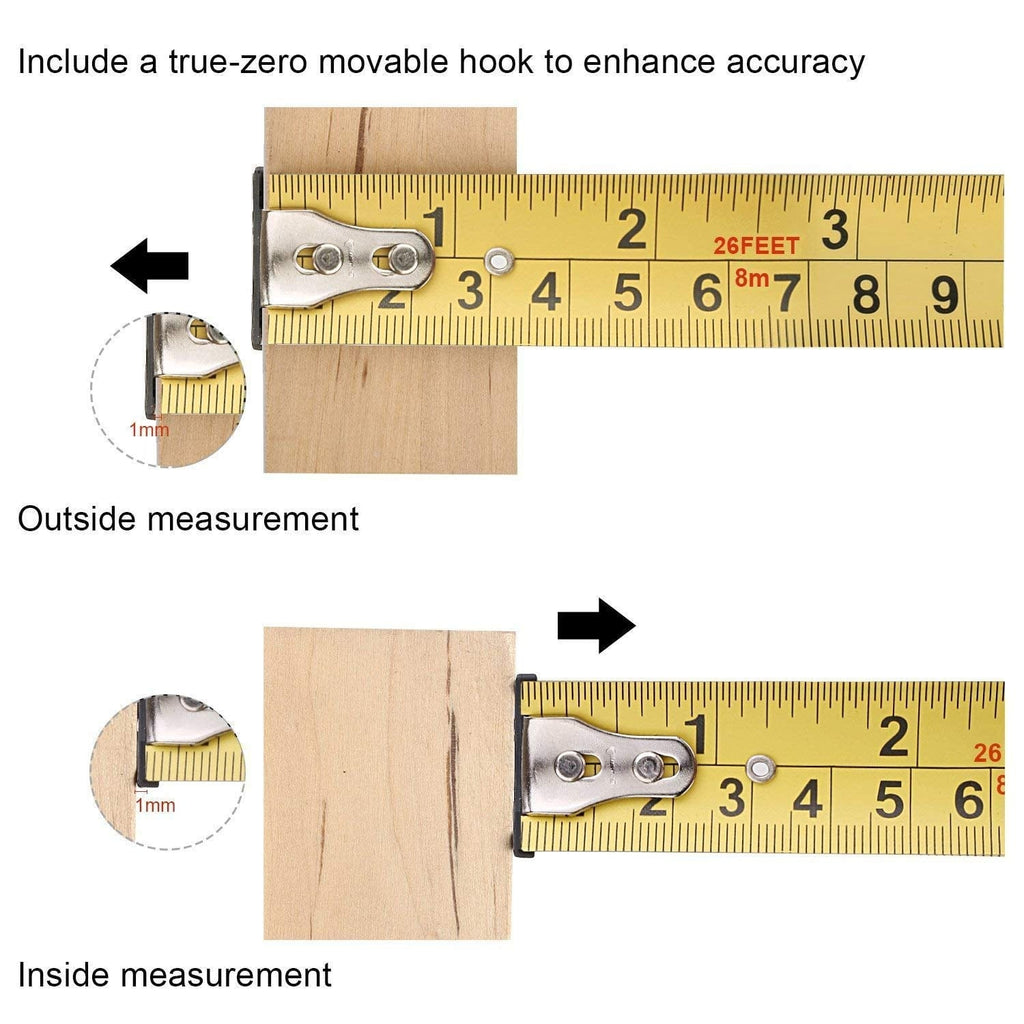 Measuring Tape 26-Foot(8m) Tape Ruler -TM-B03