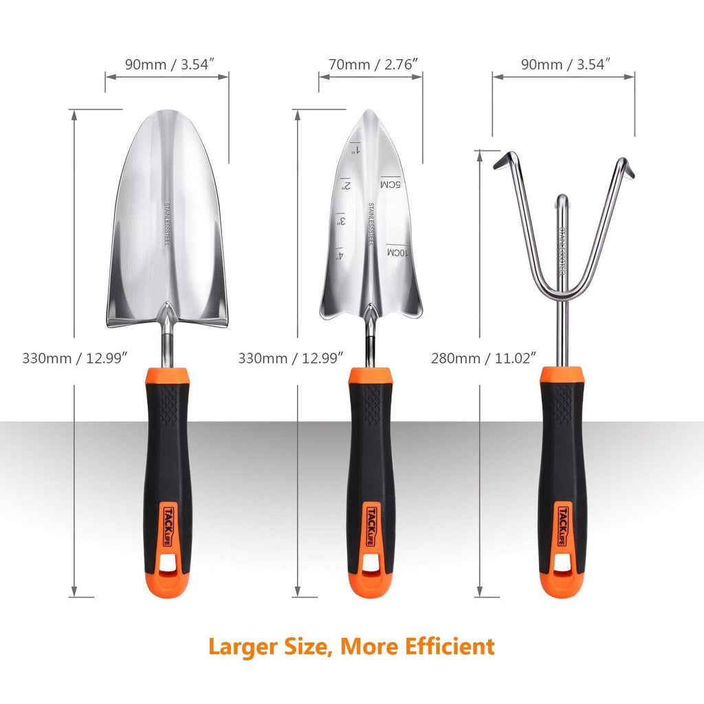 Garden Tool Set, 3 Piece Stainless Steel Heavy Duty Gardening Kit-GGT1A