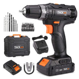Cordless Drill 18V Drill Set 2x2000Ah Li-Ion Batteries 43pcs Free Accessories-PCD05B (European Standard)