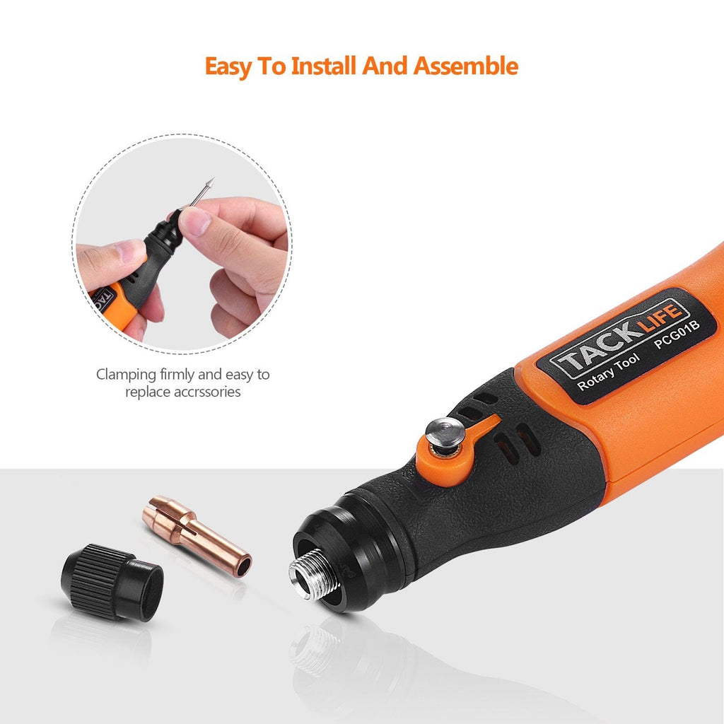 Tacklife 3.7V Li-on Cordless Rotary Tool with 31 Pieces Rotary accessories-PCG01B