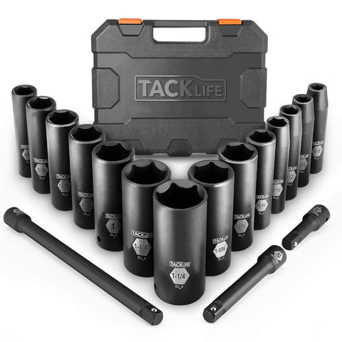 1 / 2-Inch Drive Master Deep Impact Socket Set, pollici, CR-V, 6 Point, 17-Piece Set - HIS2A