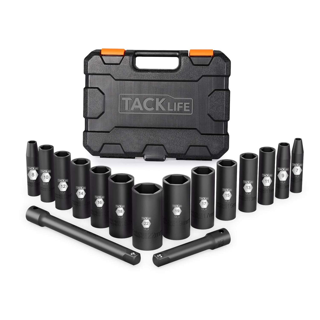 3/8-Inch 16pcs Drive Deep Impact Socket Set-HIS4A