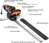 TACKLIFE Electric Hedge Trimmer 750W, 610mm Cutting Length-GHT7A