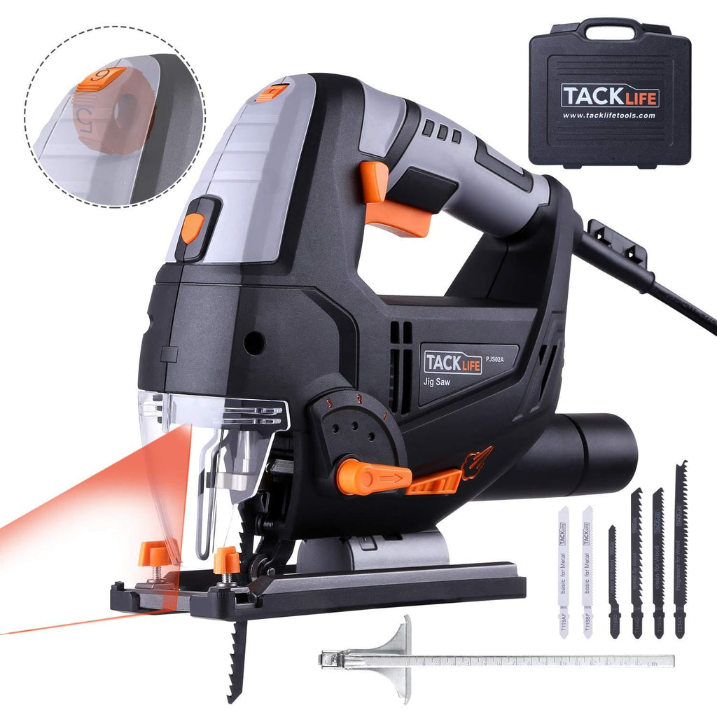 Jigsaw Advanced 6.7 Amp 3000 SPM Jig Saw with Laser & LED, Variable Speed, 6 Blades, Pure Copper Motor, 10 Feet Cord - PJS02A
