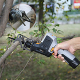TACKLIFE 12V MAX Reciprocating Saw with Clamping Jaw, Cordless Reciprocating Saw kit with Battery Indicator, Step-less Variable Speed, 1500mAh Lithium-Ion Battery, 1 Hour Fast Charger - RES001