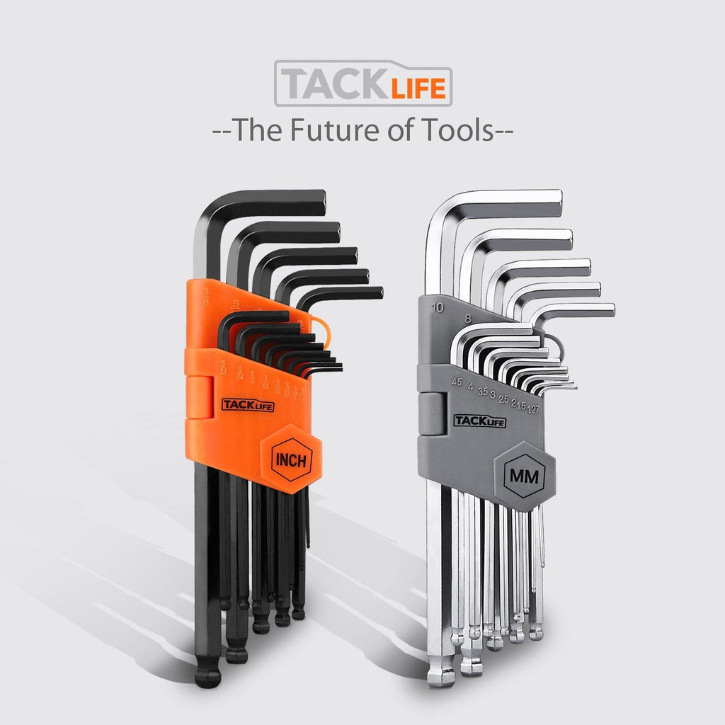 Tacklife Allen Wrench Set with Long Arm Ball End - HHW3A