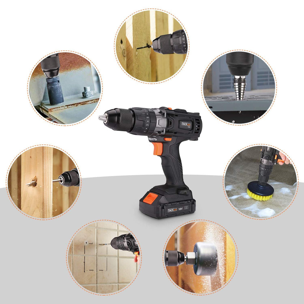 "Cordless Drill Driver Set 20V 1/2""  Auto-Lock with Hammer Action-PCD04B (American Standard)"