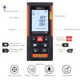 Tacklife HD60 Classic Laser Measure 196Ft M/In/Ft Mute Laser Distance Meter with 2 Bubble Levels, Backlit LCD and Pythagorean Mode, Measure Distance, Area and Volume, Multi-Color Collection, Orange, Red, Blue