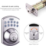 Electronic Deadbolt Door Lock, Keypad Deadbolt Lock with 1-Touch Motorized Locking, Single Cylinder & Back-lit Keypad Lock-EKPL1A