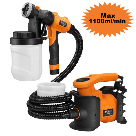 Paint Sprayer 800W Spray Gun MAX Flow 1100ml/min Paint Container-SGP16AC
