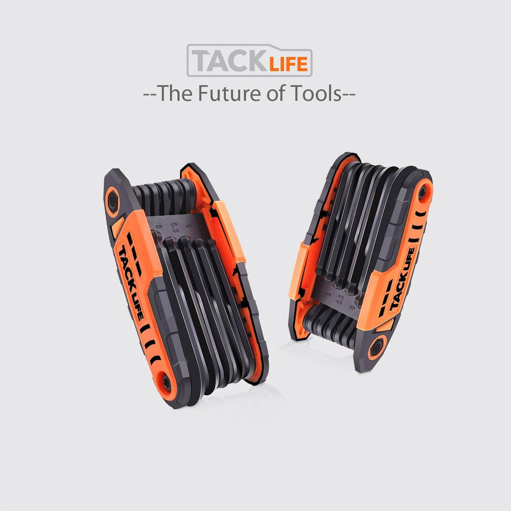 TACKLIFE 24pcs (2 Pack) Ball End Folding Hex Wrench Set, Metric and SAE - HAK3A