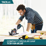 "Circular Saw 5.8A 3500RPM, Metal Handle With 6 Blades (4-3/4"" & 4-1/2""), Cutting Depth 90° (1-11/16''), 45° (1-3/8''), laser, Ideal Mini Circular Saw for Wood, Soft Metal, Plastic- TCS115A"