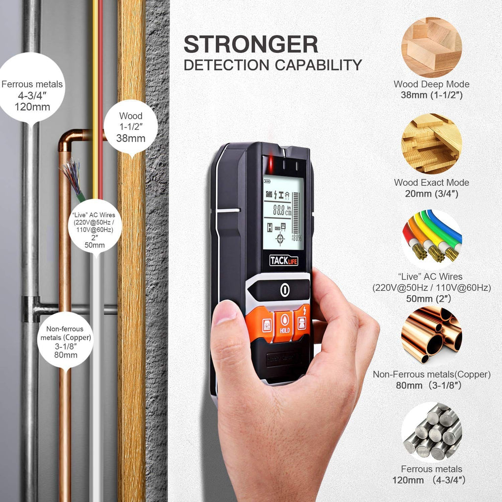 Portable Stud Center Finder Wall Multi-metal Detector Wood Copper Cable Scanner