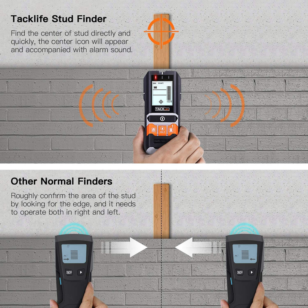 Stud Finder, 5 in 1 Multi-Functional Center Finding Wall Scanner Detector with LCD Display - DMS05
