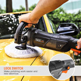 Buffer Polisher 7-Inch 12.5Amp, With 6 Variable Speeds, Digital Screen, Lock Switch, Detachable Handle-PPGJ01A