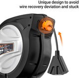 TACKLIFE Retractable Extension Cord, 50FT+4.5, 14AWG / SJTOW Cord Reel, Slow Retraction Technology with Triple Socket, Auto Rewind and Any Length Lock