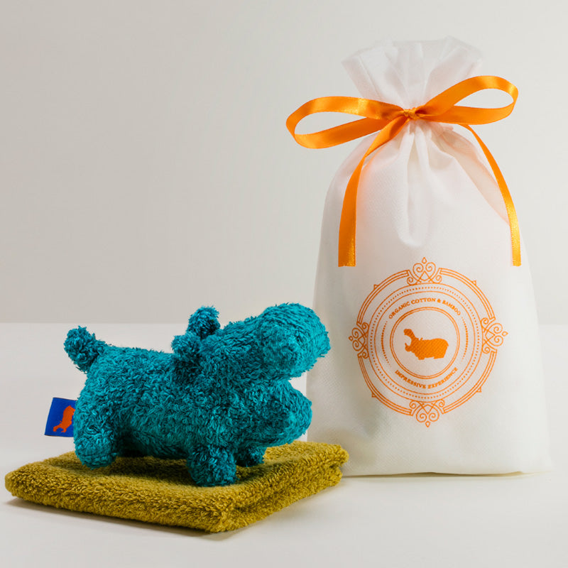 GIFT - CHIEF TOWELX1 / SOFT TOY SX1|ギフト – チーフタオル×1 / ソフトトイ S×1【HIPPOPOTAMUS|ヒポポタマス】今治 オーガニックタオル