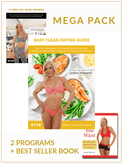 Program - MEGA PACK - Easy Clean Eating Guide + 12 Week Self Paced Program + Get The Body You Want Book