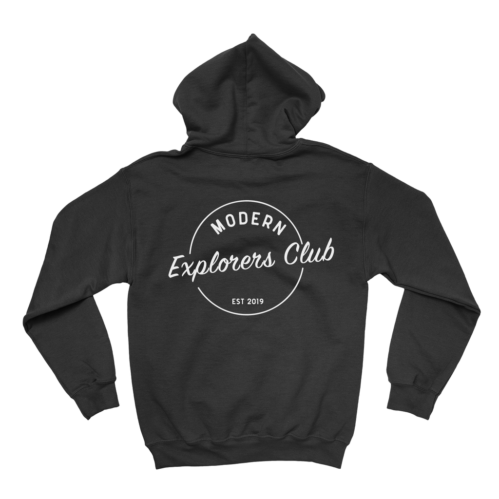 MODERN EXPLORERS CLUB CIRCLE LOGO HOODIE- BLACK