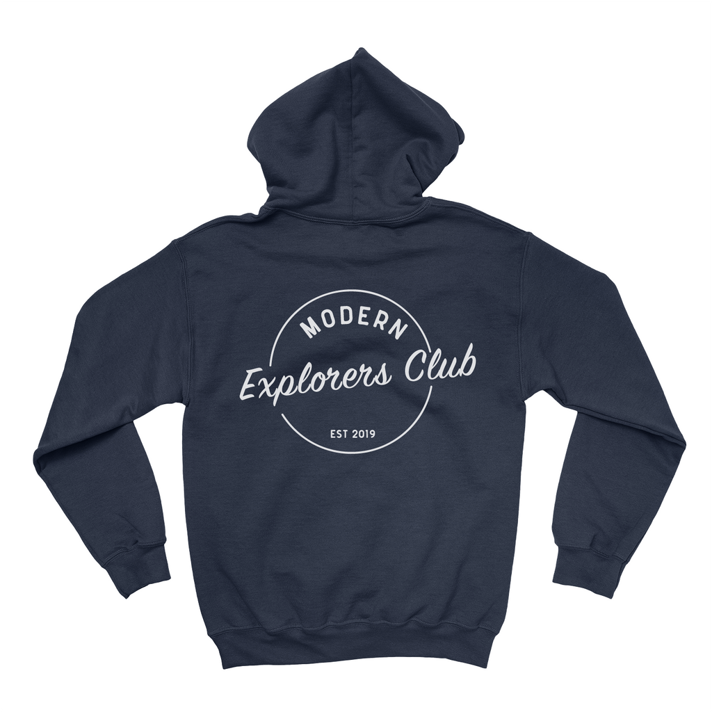 MODERN EXPLORERS CLUB CIRCLE LOGO HOODIE- NAVY