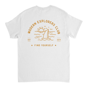 MODERN EXPLORERS CLUB TEE- GOLD