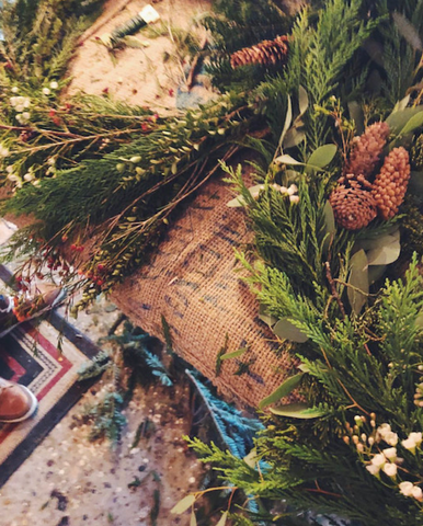 Wreath making and digging into the consciousness of plant life