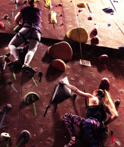 women rock climbing, she sends, empowerment through climbing