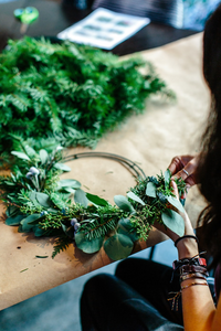 "Wreath Making, ""Digging"" into Plants, & Wine Night 12/11"
