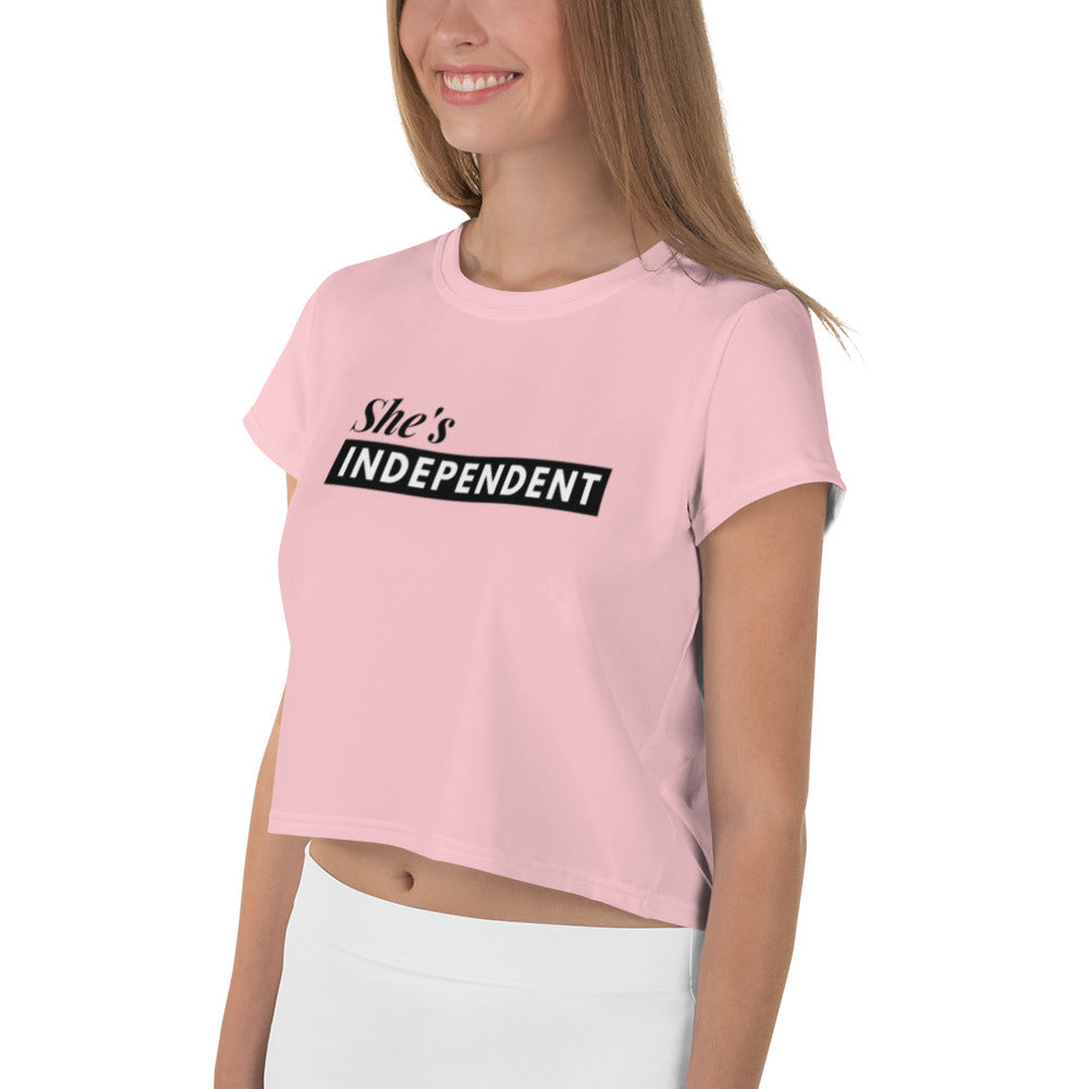 She's Independent Crop Tee