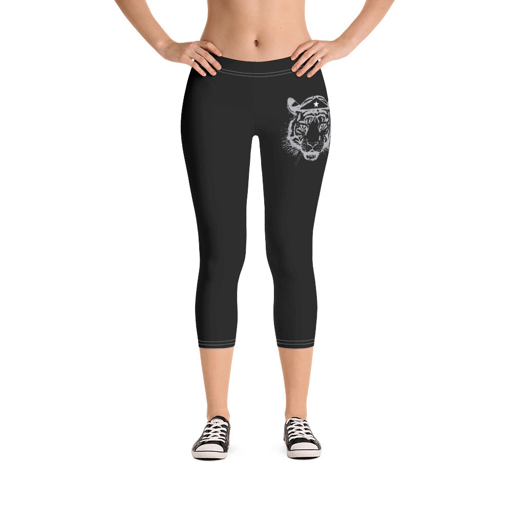 Tiger crop leggings