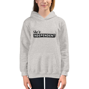 Open image in slideshow, Kids She's Independent Hoodie