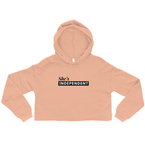 Open image in slideshow, She's Independent Crop Hoodie