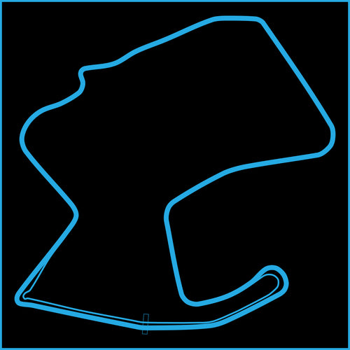 Laguna Seca Track Outline Sticker