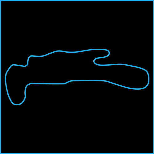 Pacific Raceways Track Outline Sticker