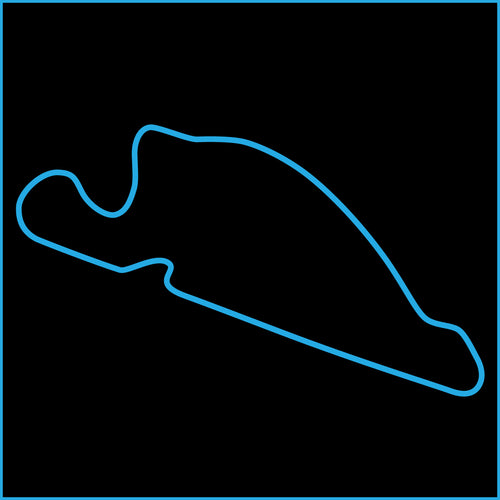 Portland International Raceway Track Outline Sticker