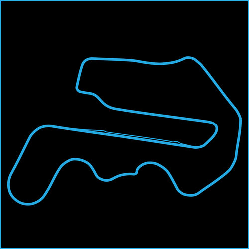 Thunderhill Raceway Park Track Outline Sticker