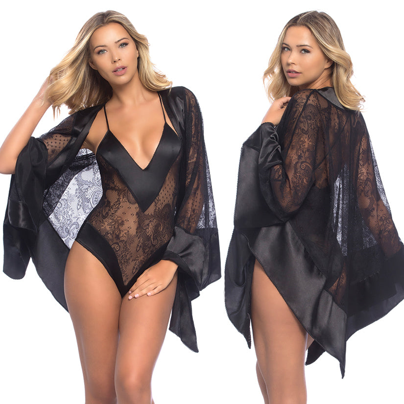 Roxanne All Over Lace Handkerchief Robe