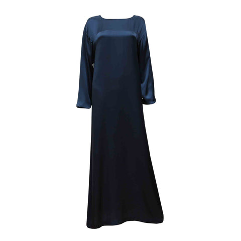 ADDA - Classic Long Sleeve Silk Dress