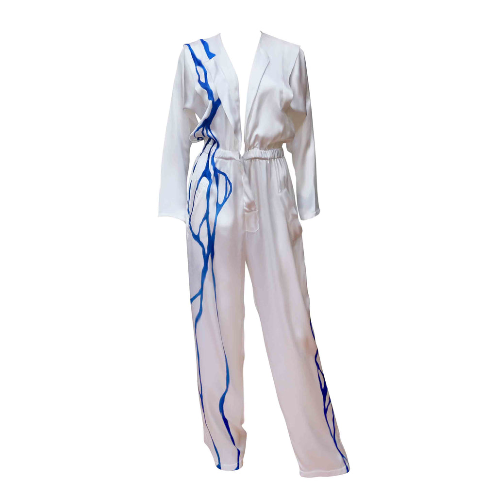 Space & Time - Classic Silk Jumpsuit Painted in Low Intensity